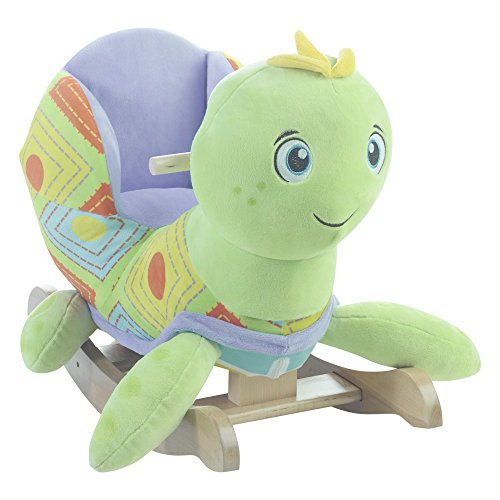 Rockabye 85073 Sammie Sea Turtle Chair Rocker, Multicolor