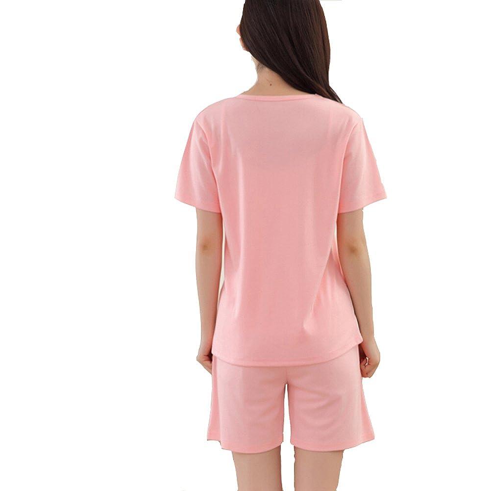 Women//Teen Girls Cat Cotton Short Sleevs Pajamas Set Sleepwear