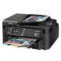 Impresora de inyección de tinta de color todo en uno Epson Workforce WF-3620 WiFi, copiadora, escáner, reaprovisionamiento de Amazon Dash habilitado