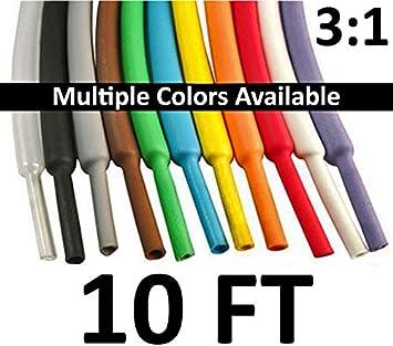 "5 FT 5/' Feet YELLOW 5//8/"" 16mm Polyolefin 2:1 Heat Shrink Tubing Tube Cable US UL"