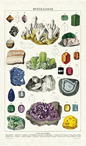 Cavallini Papers & Co. Vintage Mineralogy Cotton Tea Towel