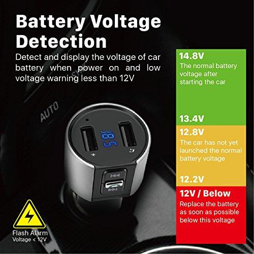 TNP Bluetooth FM Transmitter In-Car Stereo Bluetooth Receiver