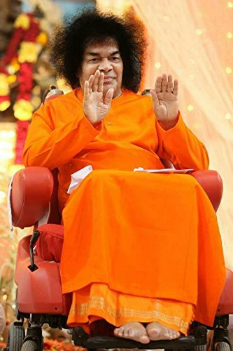 Samriddhi Sri Sathya Sai Baba Vinyl Poster 12x18 Inches For
