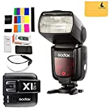 Godox Thinklite TTL TT685C Camera Flash 2.4GHz High Speed 1/8000s GN60 for Canon EOS Cameras E-TTL II Autoflash+X1C TTL Wireless Transmitter for Canon EOS series cameras (X1C-T)