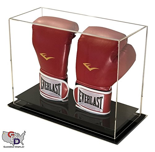 Double Boxing Glove - GameDay Display Acrylic Desk or Counter Top Vertical Double Boxing Glove Display Case by