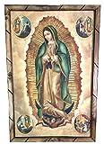 Virgen De Guadalupe Cuadro Religioso Con Marco De