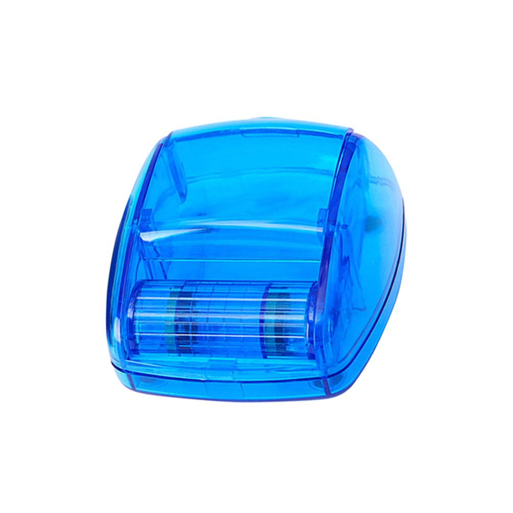 TOPBATHY Square Plastic Paper Clip Holder Magnetic Paperclip Holders Paper Clip Dispenser Magnetic Ring Dispenser for Desk Organizer Accessories