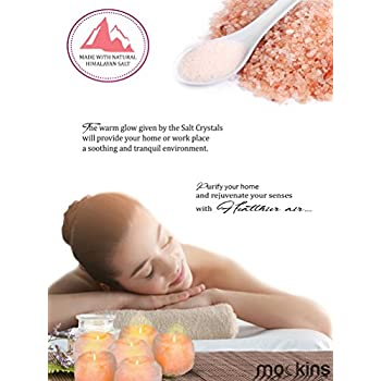 Mockins 6 Pack Natural Himalayan Salt 2.5-lbs Tea Light Holder …