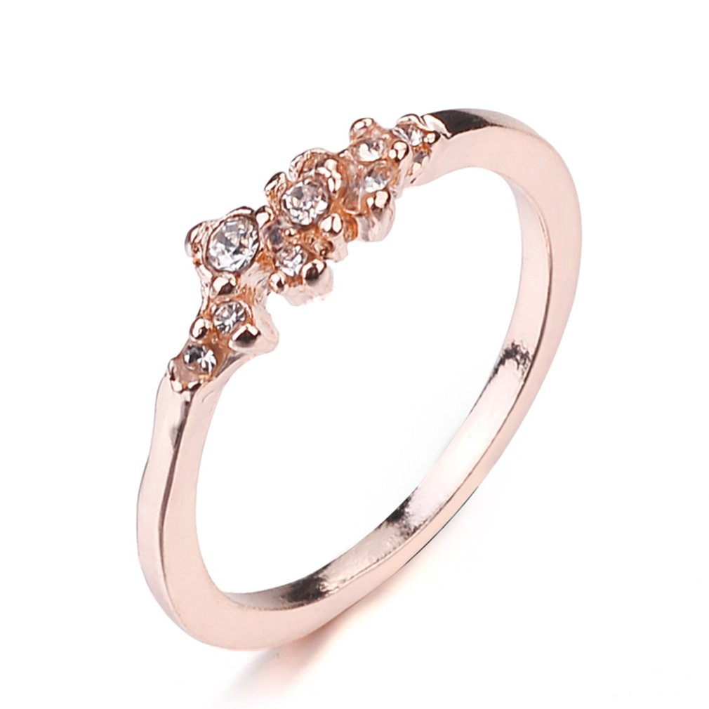 Meolin Crystals Ring Big Round Finger Ring Anniversary Jewelry,Zinc Alloy,Size10