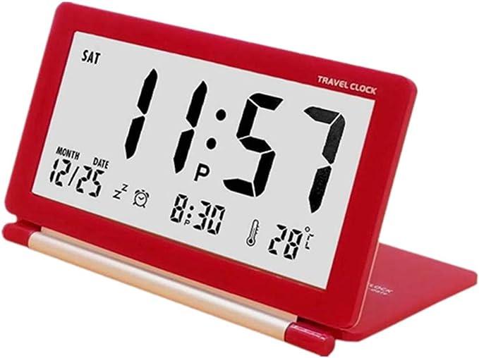 shuxuanltd Reveil-Matin Alarm Clock Despertadores Digitales Reloj Digital Pared Grande Los NiñOs Reloj De Alarma Reloj De Alarma Inteligente Reloj De Horloge Digitale Horloge NuméRique Red: Amazon.es: Hogar