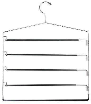 5-Tier Swinging Arm Pant Rack - Chrome/Black (2pk) : Target
