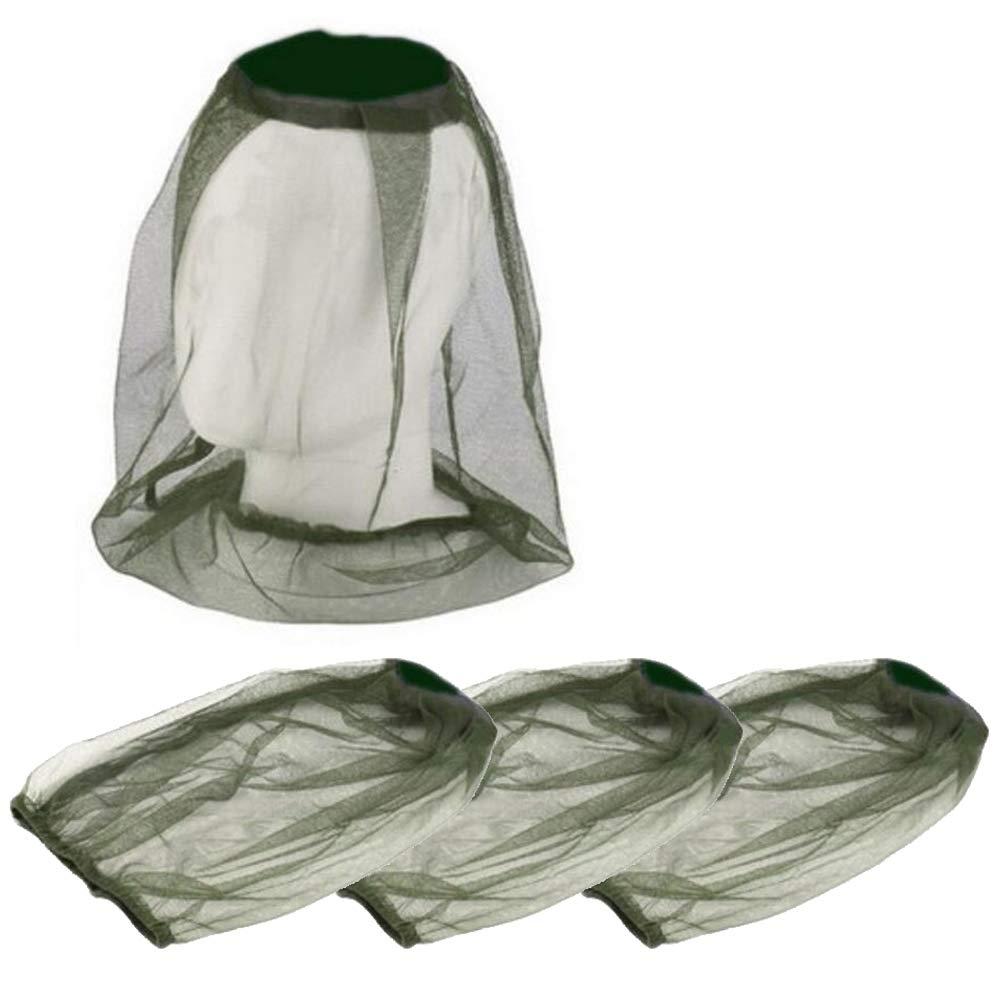 Lezed Apicultor Sombrero Gorro Antimosquitos Gorro Abeja Head Net Protección Facial Anti Mosquito Insectos (2 Piezas, Camuflaje)