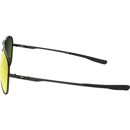 73f14167a1 Amazon.com  Oakley Elmont Large Aviator Sunglasses Satin Black w  Ruby  Iridium Lens + Sticker  Sports   Outdoors
