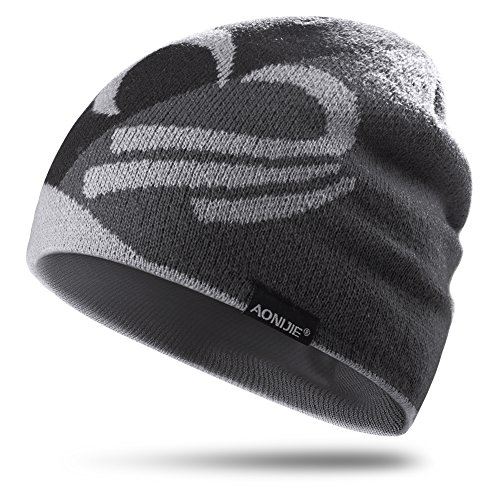 Lovtour Winter Knit Beanie Sports Hat Warm Knit Outdoors Cap Unisex Hiking Bicycling Running Cycling Camping Fitness Woolen Knit Hat (Gary)