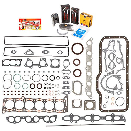 Domestic Gaskets Engine Rering Kit FSBRR2023T\0\0\0 87-92 Toyota Supra Turbo 7MGTE Full Gasket Set, Standard Size Main Rod Bearings, Standard Size Piston Rings (Bearing Set Rod Standard)