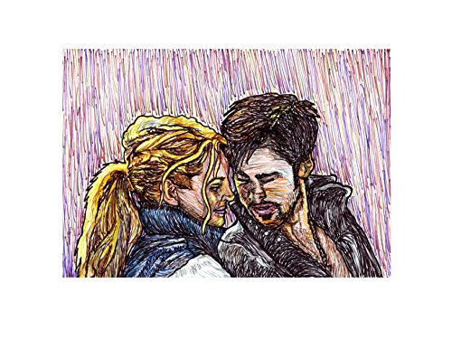 Captain Swan Swordfighting Print 8.5x11