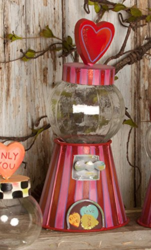 The Round Top Collection Gumball Jar Large - (Pink Sweetheart Glasses)