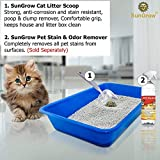 SunGrow Non-Stick Cat Litter Sifter Scoop, Manages