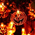 Halloween String Lights, 10ft 3M Pumpkin String Lights, Christmas 20 LED Bulbs Lightness Battery Powered Strings Lighting Decoration Outdoor Holiday Decor for Indoor, Patio, Festival Party Holiday