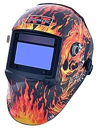 K-T Industries 4-1071 Gen 1 Flaming Skull Auto Darkening Welding Helmet