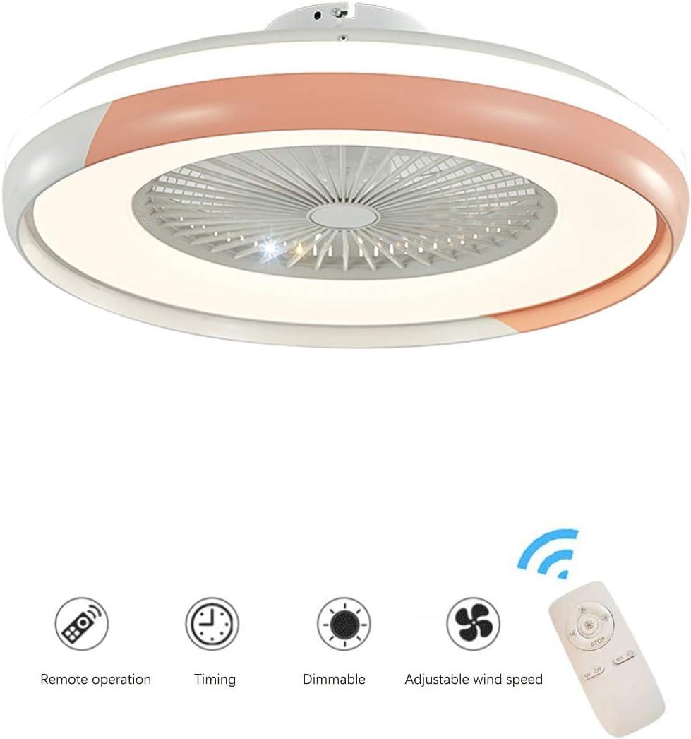 Lamparas Techo Con Ventilador Ventilador Silencioso Techo Led Iluminación de Ambiente Ventilador con Luz con Control Remoto, Regulable en 3 Colores, Velocidad Del Viento Ajustable