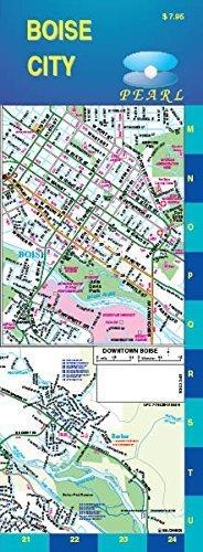 Boise City Pearl Street Map by GM Johnson - Map City Johnson Mall