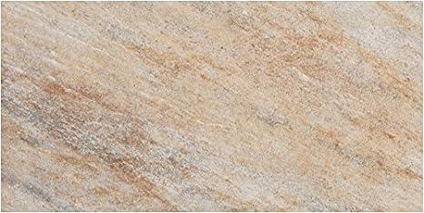 Fliesenmax gres porcellanato pavimento piastrelle quarzite ocra 30 x