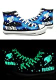 Fairy Tail Anime Logo Cosplay Shoes Canvas Shoes Hand-painted Shoes Sneakers Luminous