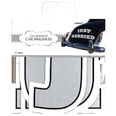 Amscan Magnet Car Decorating Kit, 5 , White