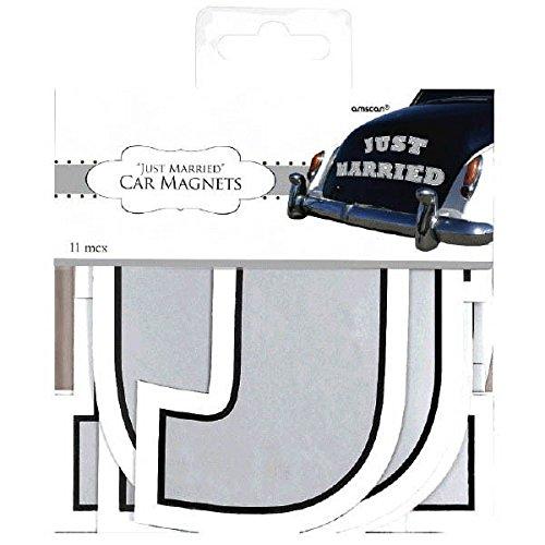 Amscan 248890 Magnet Car Decorating Kit, 1 piece, white ()