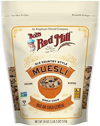 Bob's Red Mill Resealable Whole Grain Old Country Style Muesli Cereal, 18 Ounce (Pack of 4)