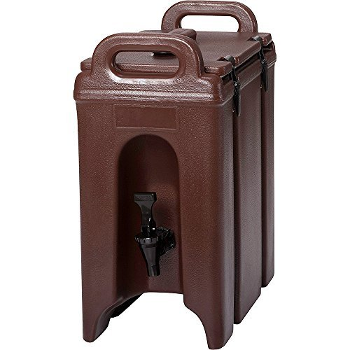 Cambro 250LCD131 Dark Brown 2.5 Gal Beverage Camtainer by Cambro