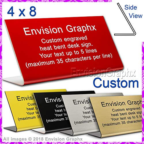 - Custom Personalized Laser Engraved Free Standing Desk Sign 4