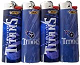 BIC 4pc Set Tennessee Titans NFL Officially Licensed Cigarette Lighters