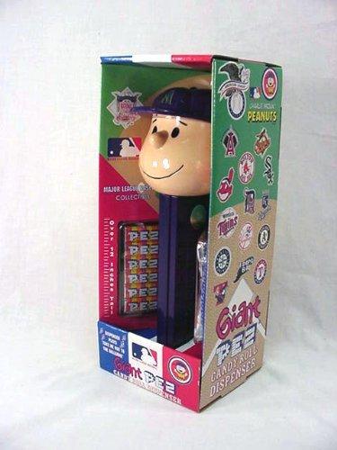 Peanuts Charlie Brown AZ Diamond Backs Giant Pez Dispenser (Musical Pez Candy Roll Dispenser)