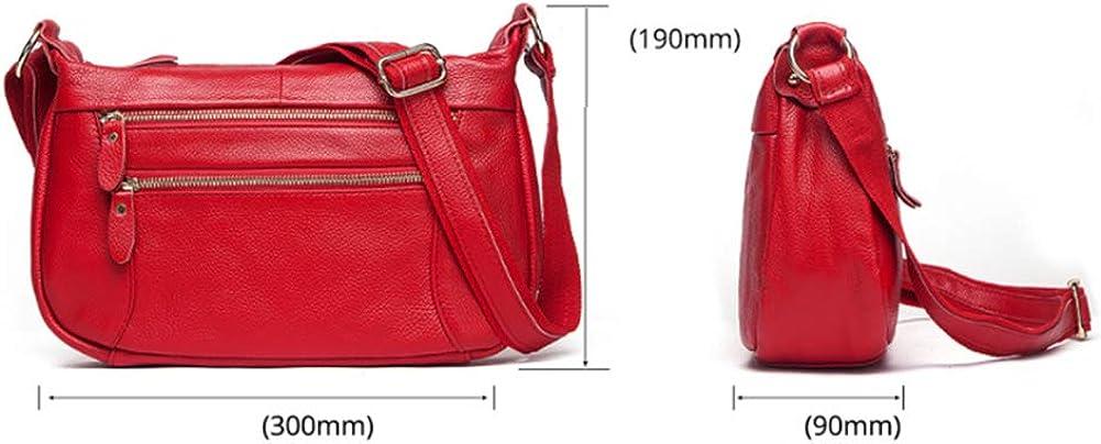 Ledertasche Frau mittleren Alters Lady Mother Bag Europa und Amerika Wild Shoulder Messenger Bag Red