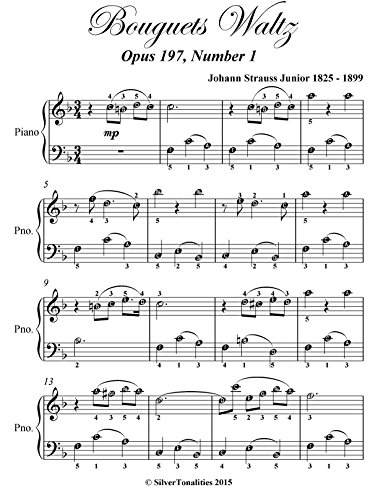 Bouquets Waltz Opus 197 Number 1 Easy Piano Sheet Music