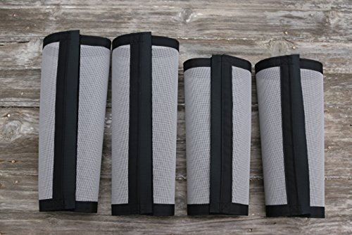 Snowy Mountain Horse Shop Fly Wraps Fly Boots Leg Wraps for Horses Tapered Style, Set of Four, Grey