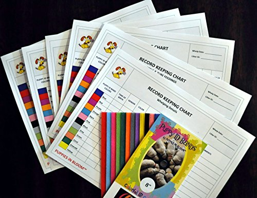 Record Keeping Charts for Breeders with 8 inch Puppy ID Bands (Band Records)