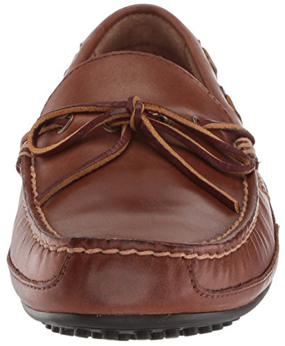 Polo Ralph Lauren Men's Wyndings Driving Style Loafer, Tan/Rl Red Smooth Oil Leather/Sport Suede, 9.5 UK Polo Tan