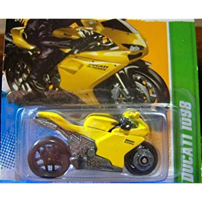 Hot Wheels Regular Treasure Hunt Ducati 1098 Yellow Motorcycle: Toys & Games