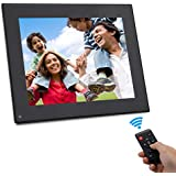 Digital Picture Frame 8 Inch - HD Video Digital Slideshow Picture Frame Electronic Picture Frame with Remote Control Bsimb M03 (Black)