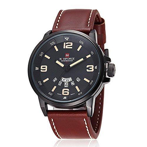30bbacaf25ce Gokelly Naviforce multifunción reloj de pulsera para hombre de caza de  hombre a la moda sin