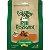 GREENIES PILL POCKETS Capsule Size Dog Treats Cheese Flavor, 15.8 oz. Pack (60 Treats)