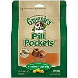 Greenies Pill Pockets Capsule Size Dog Treats Cheese Flavor, 15.8 Oz. Pack (60 Treats)