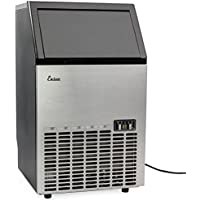 Commercial Ice Maker Stainless Steel, Free Standing Ice Machine