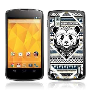 YOYOSHOP [Cool Aztec Pattern & Panda] LG Google Nexus 4 Case