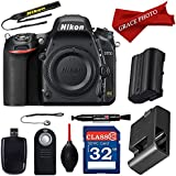 Nikon D750 24.3MP HD 1080p FX-Format Digital SLR Camera (Body Only) and Deluxe Accessory Bundle (10 items)