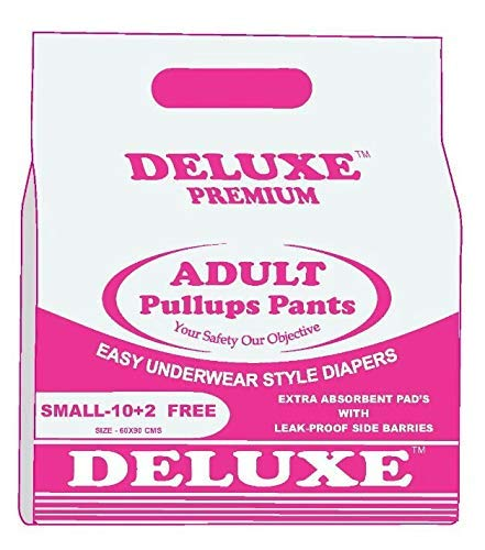 HYGIENIC Deluxe Adult Diapers Pullups Pants Small (60-90Cms) – 12pcs