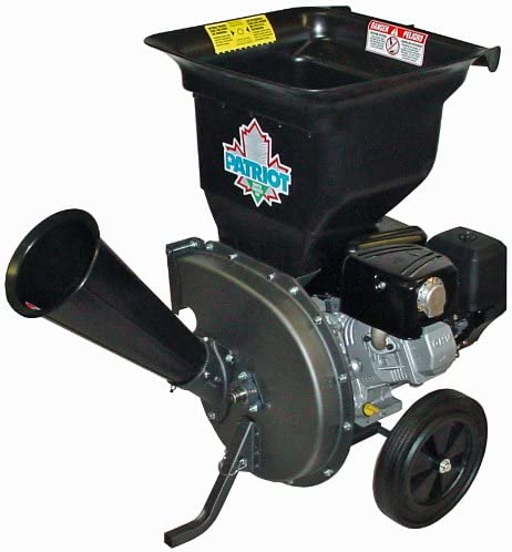 Patriot Products CSV-3100B 10 HP Briggs Stratton Gas-Powered Wood Chipper Leaf Shredder